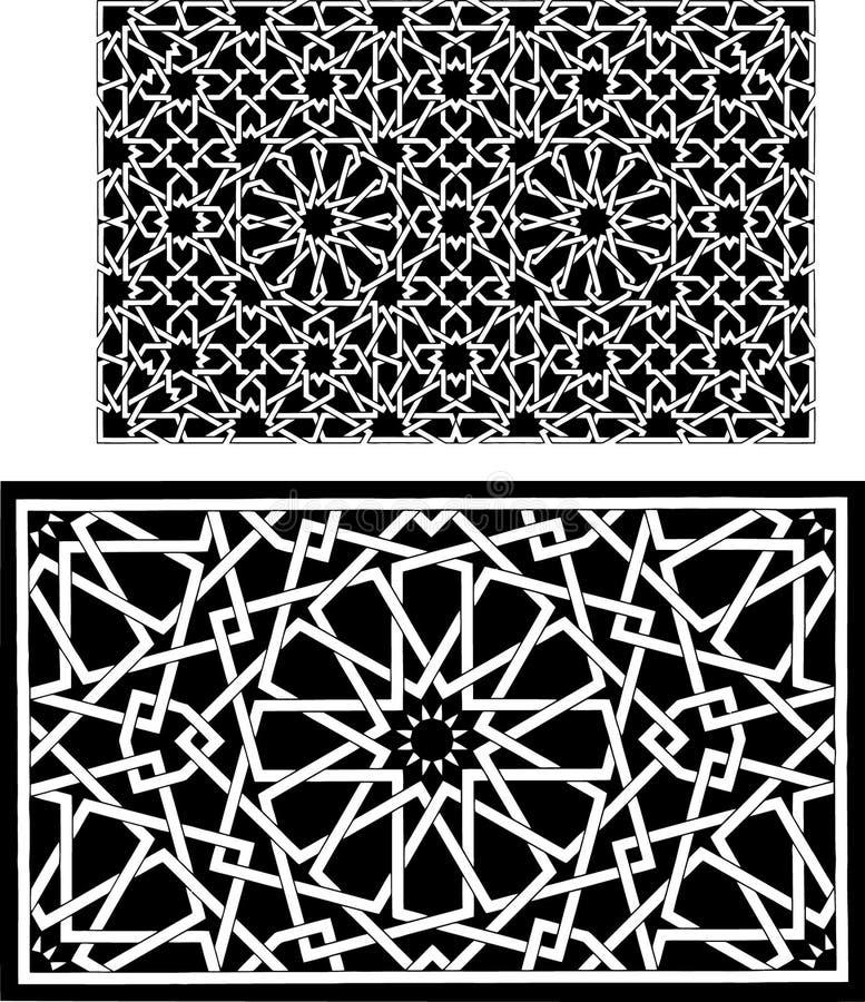 Islamitische patronen royalty-vrije illustratie