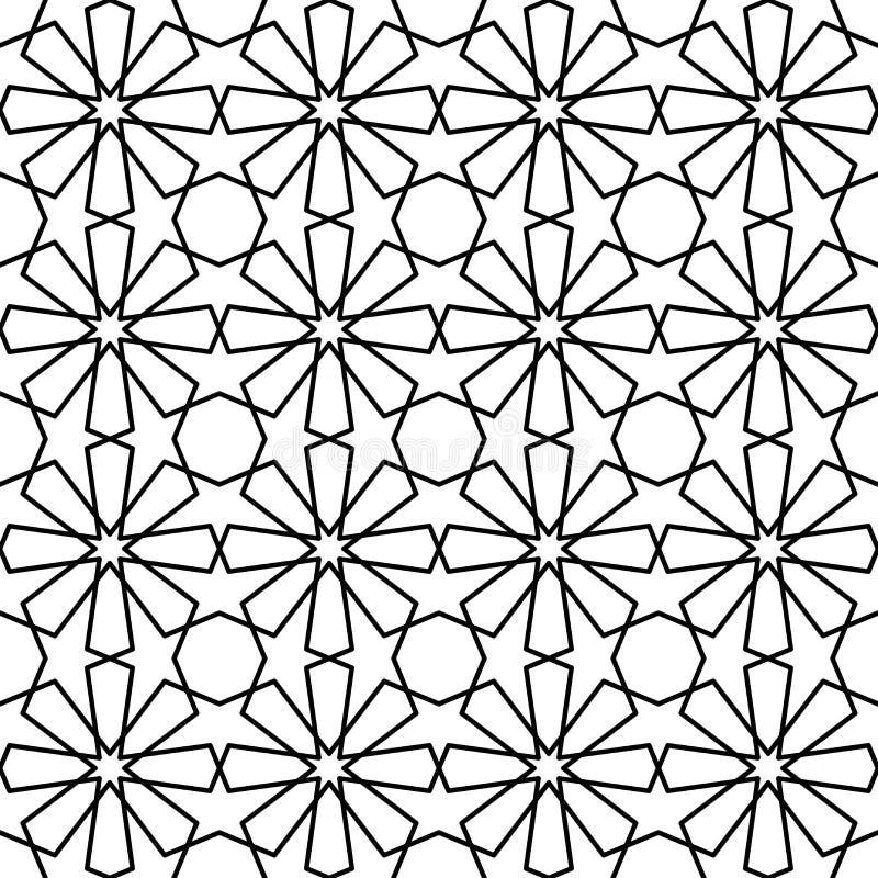Islamitische patroon vectorillustratie op witte achtergrond stock illustratie