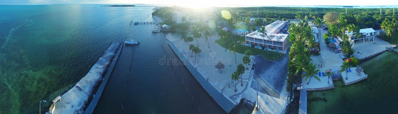 Islamorada, chaves de Florida Encenação bonita do ar no sol imagens de stock royalty free