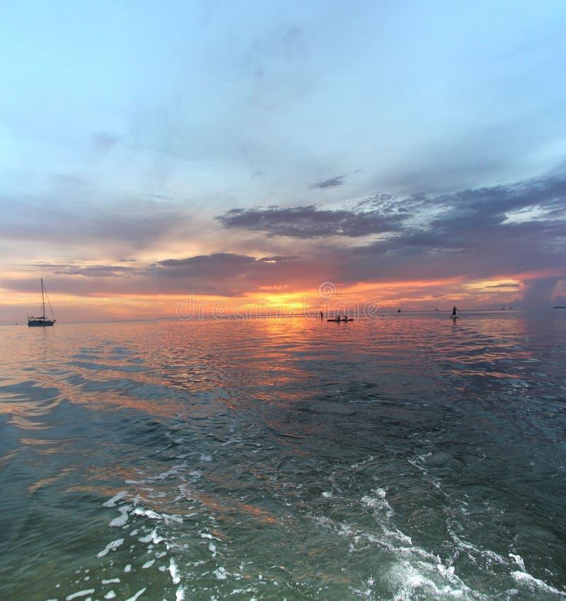 Islamorada Florida solnedgång III royaltyfri bild