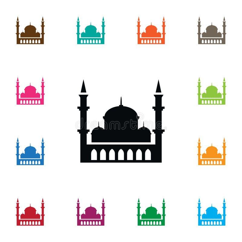 Islampictogram Kan het minaret Vectorelement voor Minaret, Moskee, het Concept van het Islamontwerp worden gebruikt royalty-vrije illustratie