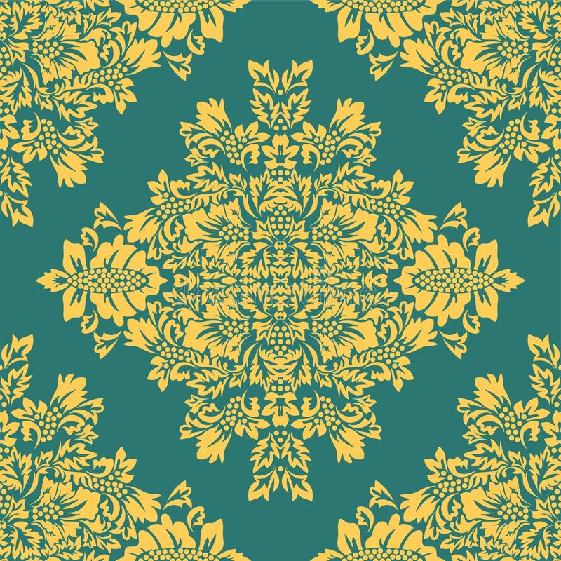 Islamska adamaszek karta dla papierowego projekta ?adnego ornamentu retro rocznika tapeta ilustracja wektor