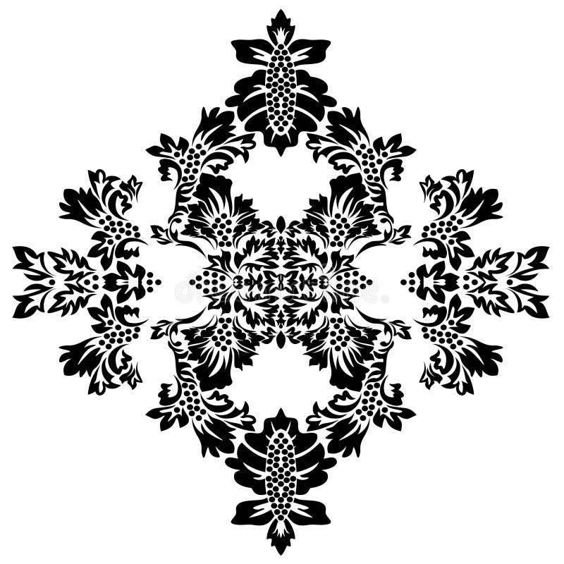 Islamska adamaszek karta dla papierowego projekta ?adnego ornamentu retro rocznika tapeta royalty ilustracja