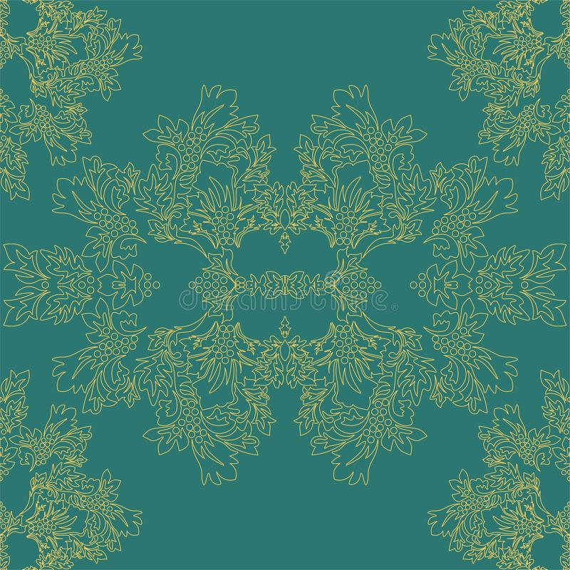 Islamska adamaszek karta dla papierowego projekta ?adnego ornamentu retro rocznika tapeta ilustracji