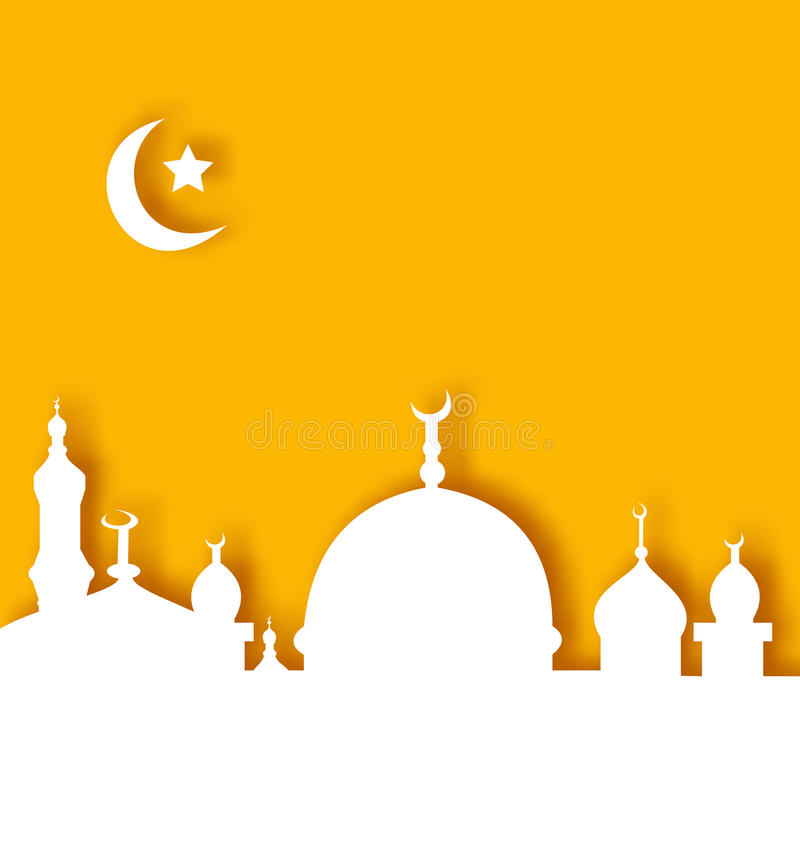 Islamski architektury tło, Ramadan Kareem