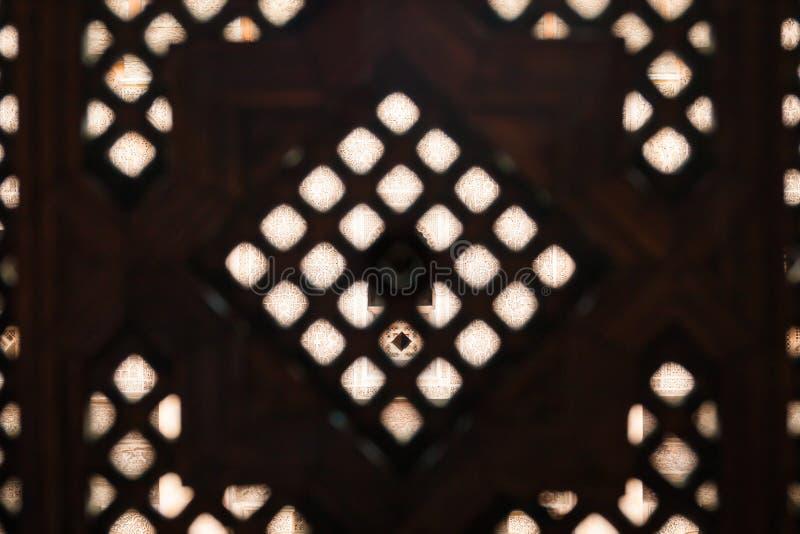 Islamski Drewniany kratownica ekran medersa dormitorium fotografia royalty free