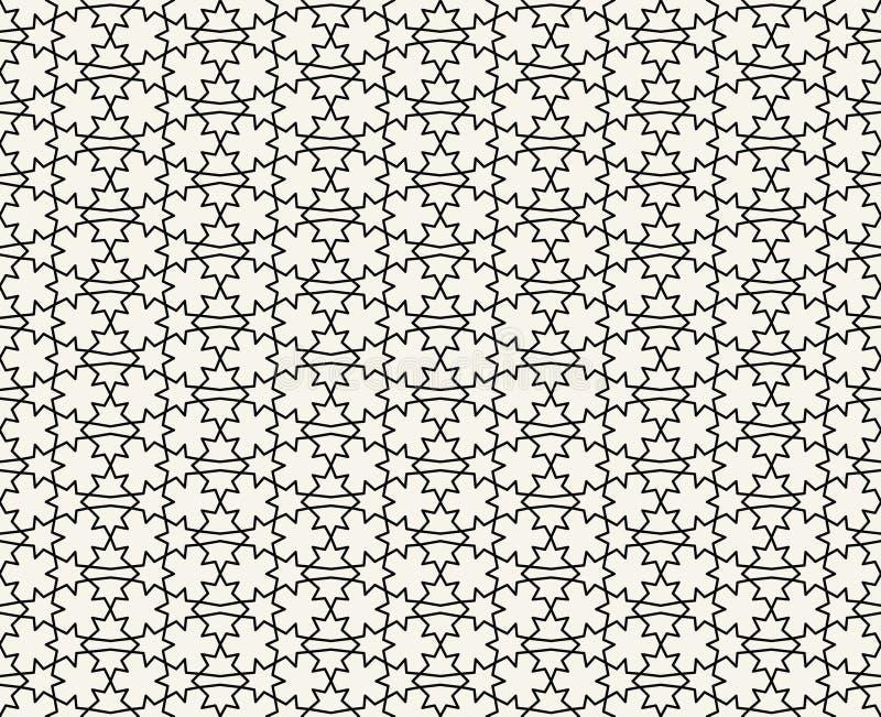 Islamski inspirowany bezszwowy deseniowy wektor royalty ilustracja