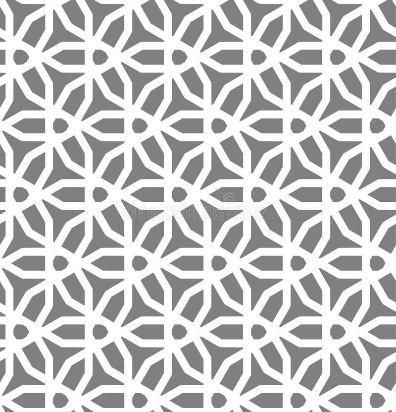 Islamski inspirowany bezszwowy deseniowy wektor ilustracji