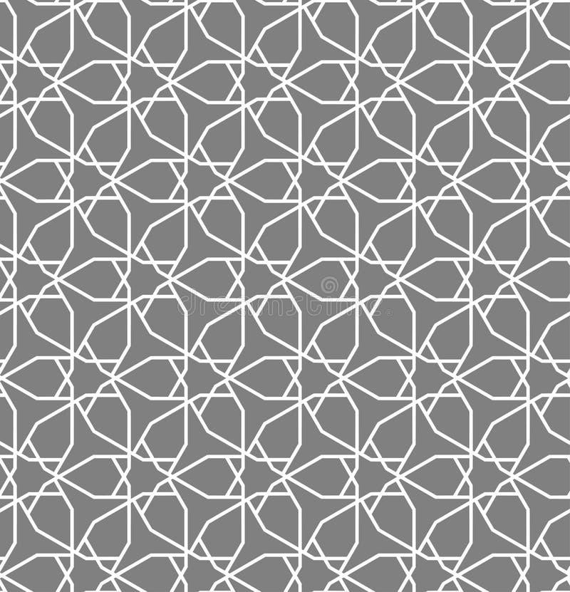Islamski inspirowany bezszwowy wzór ilustracja wektor