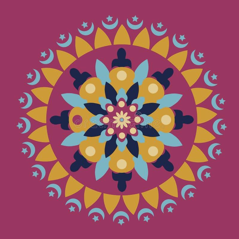 Download Islamski kurenda wzór ilustracji. Ilustracja złożonej z krzywa - 57674609