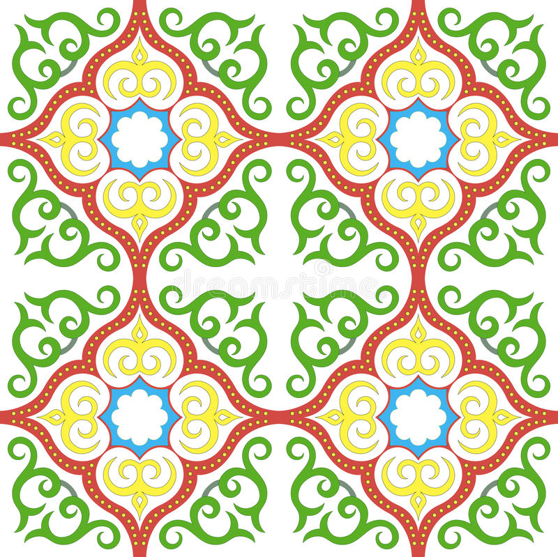 Islamski kwiecisty deseniowy motyw royalty ilustracja