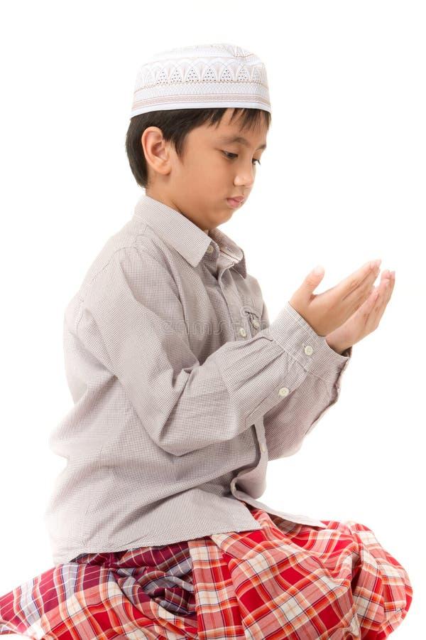 Islamski modli się wyjaśnienie zdjęcie stock