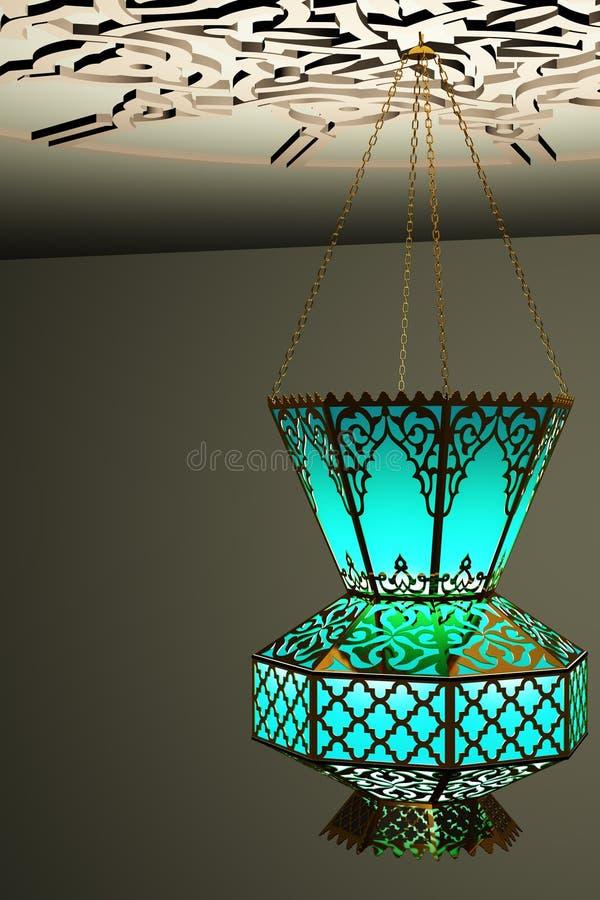 Islamski stylowy lampion royalty ilustracja