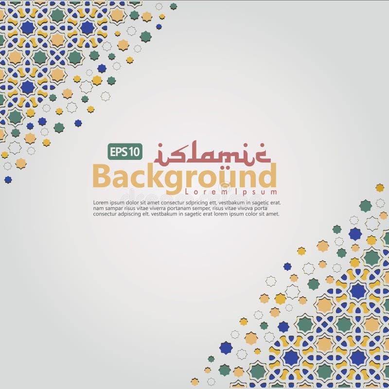 Islamski tło szablon dla Ramadan kareem, Ed Mubarak z islamskim ornamentem ilustracji