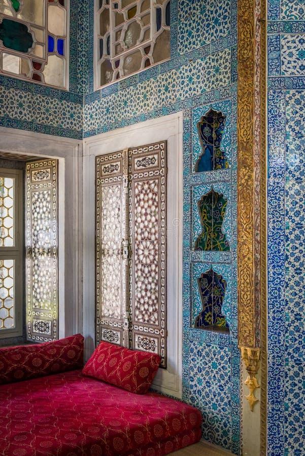 islamski wewnętrzny Topkapı pałac fotografia royalty free
