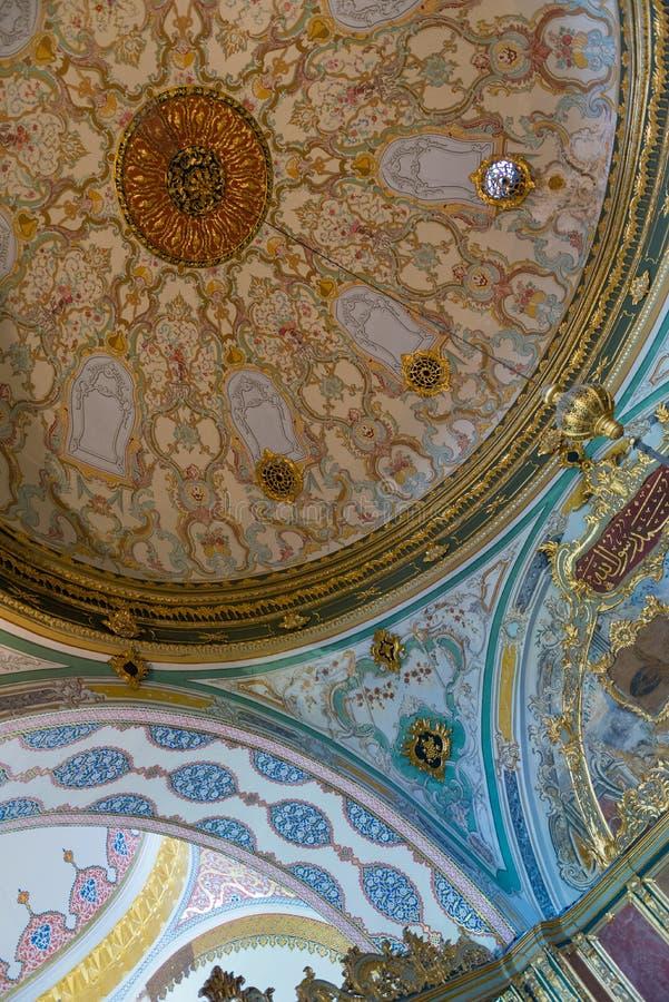 islamski wewnętrzny Topkapı pałac obraz stock