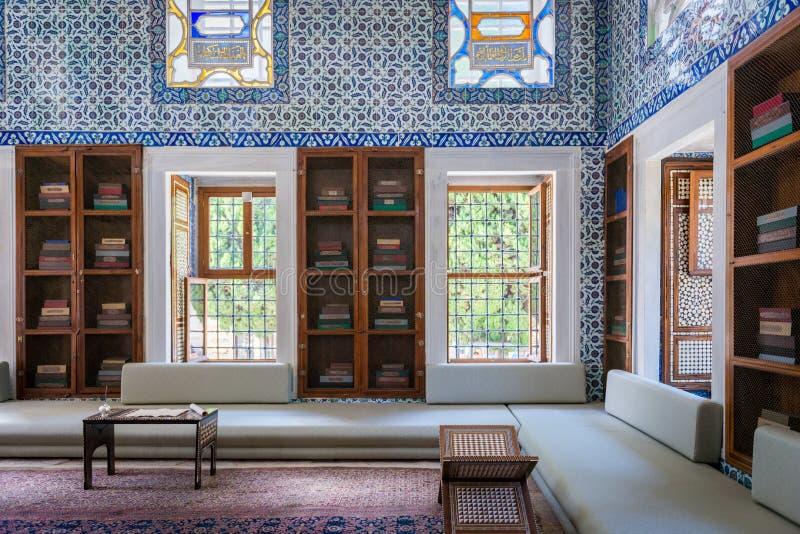 islamski wnętrze w Topkapı pałac zdjęcie royalty free