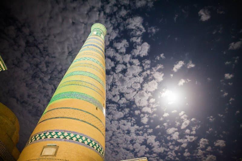 Islamu Khoja minaret w Khiva obrazy royalty free