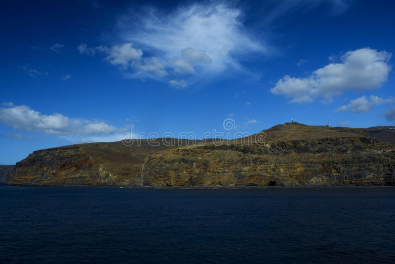 Island. La Gomera - island in the Canary Archipelago, the Pacific Ocean stock photography