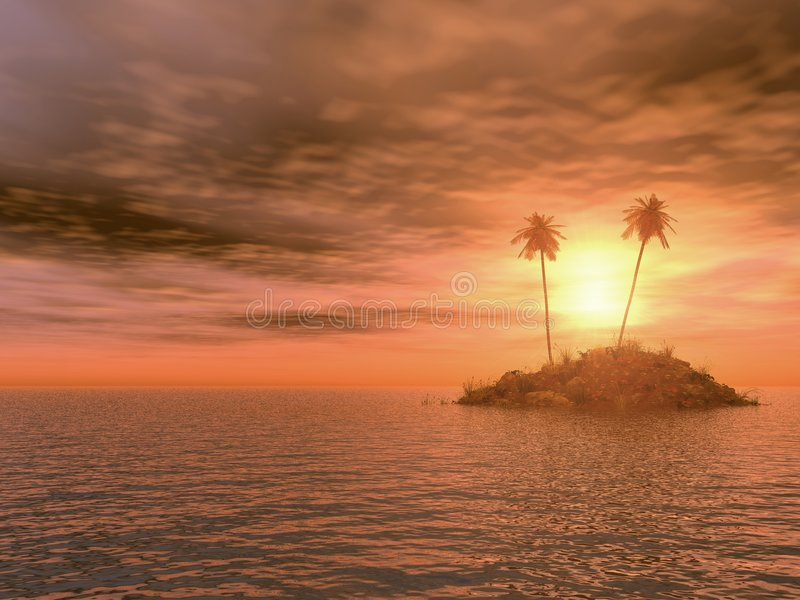 Download Island stock illustration. Illustration of dusk, caribbean - 2081554