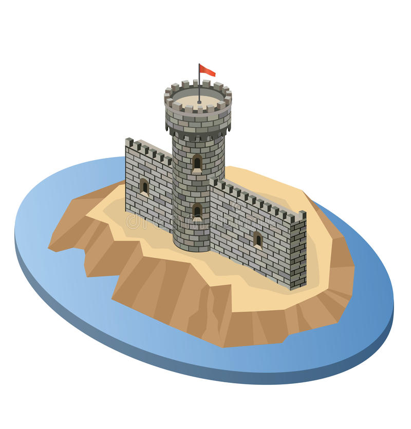 Download Island stock vector. Illustration of citadel, palace - 24804459