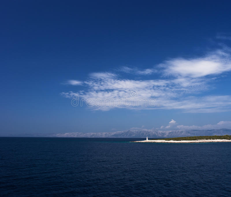 Download Island In Adriatic Sea With Beacon Stock Image - Image: 17411817