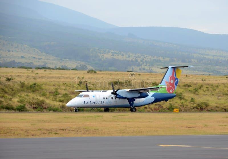 Island Air regionalt flyg från Maui, Hawaii royaltyfri foto