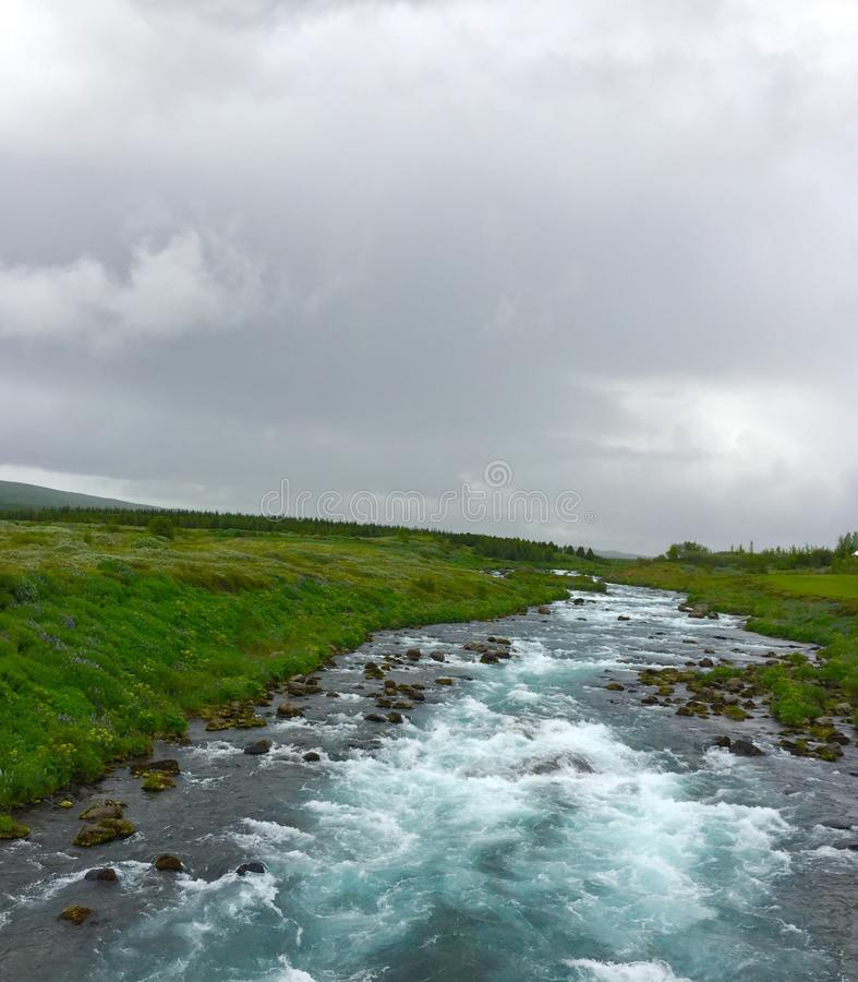 Island blåttflod royaltyfria foton