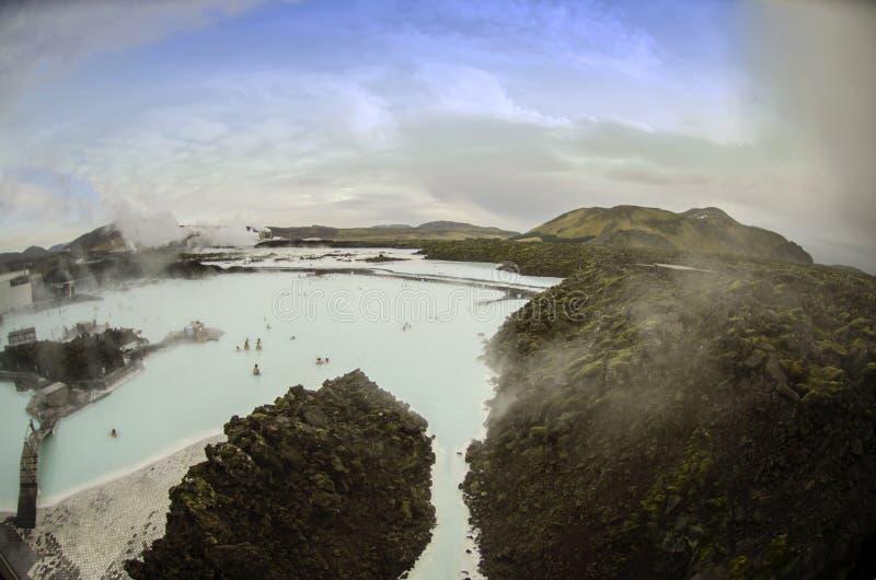 Island blåttlagun arkivfoto