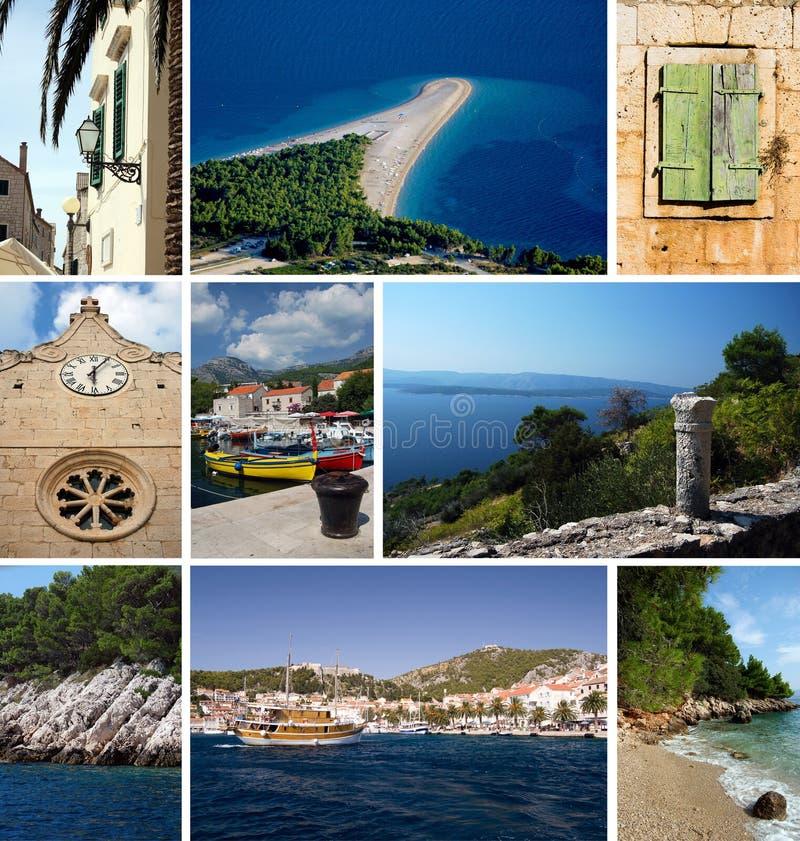 Island Brac in Croatia stock photography
