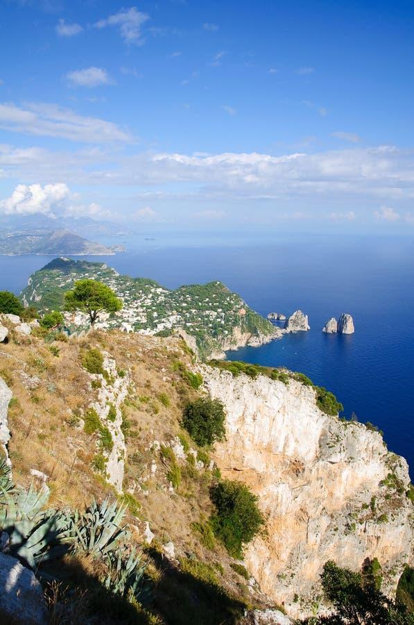 Island Of Capri Coastline - Italy Stock Photos