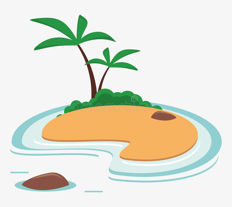 Island caribbean vacation sea palm. Vector illustration eps 10 stock illustration