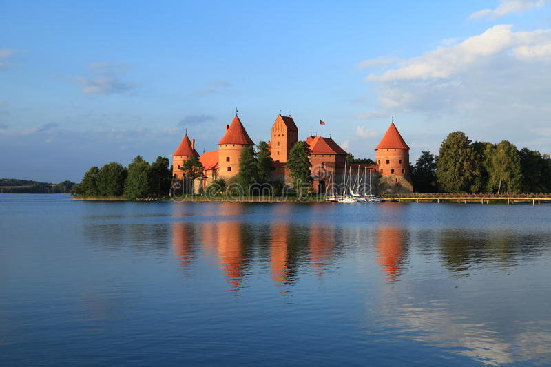 Island Castle in Trakai. Lithuania stock photo