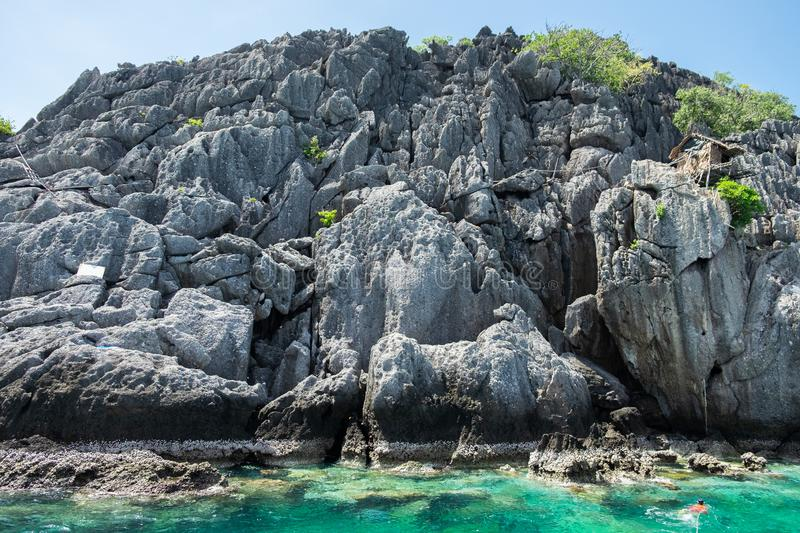 Island of Chumphon , Thailand. Rock Sea, Island of Chumphon , Thailand stock images
