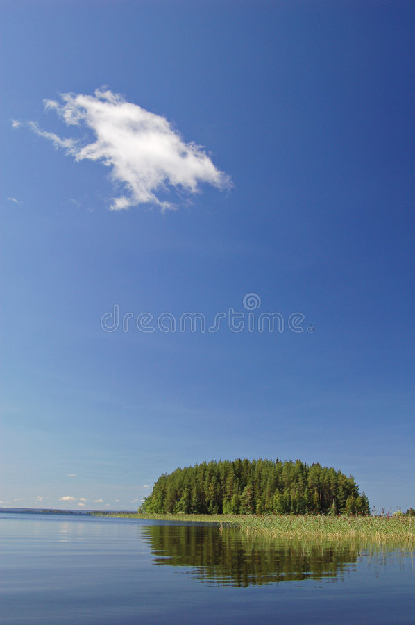 Download Island and cloud stock photo. Image of tranquil, tuft - 1124512