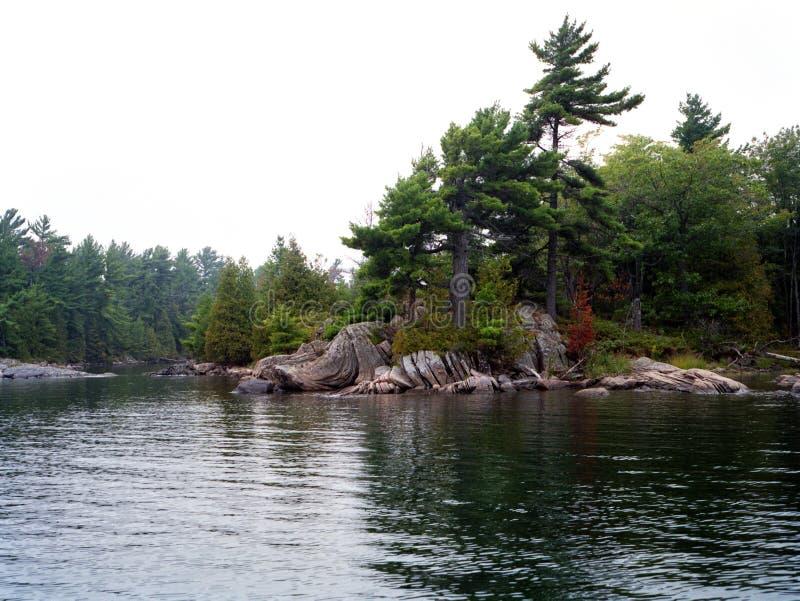 Island cove in Georgian Bay royalty free stock photos