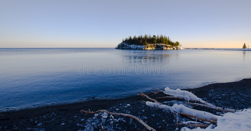 Island in December on the North Shore royalty free stock images