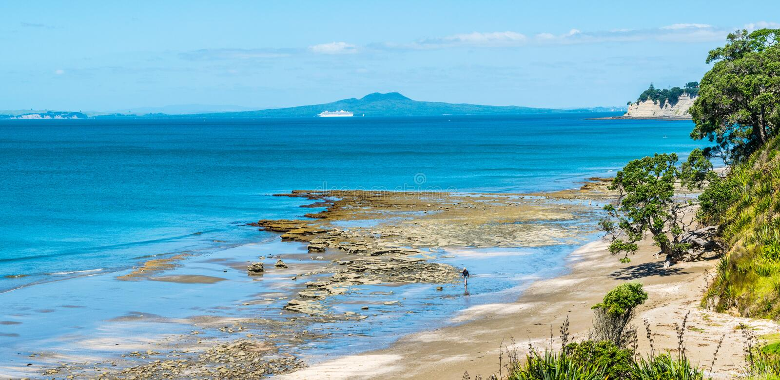 Island in the distance stock photography