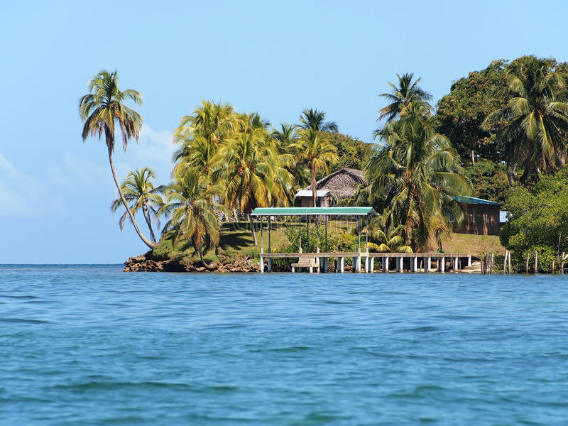 Island with dock royalty free stock photos