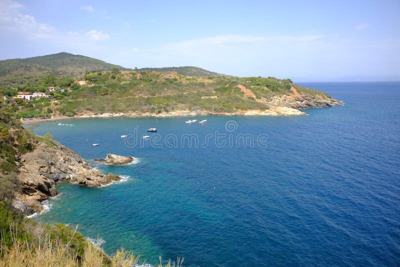 Isola Elba italy. Coste dell'Isola d'Elba royalty free stock image