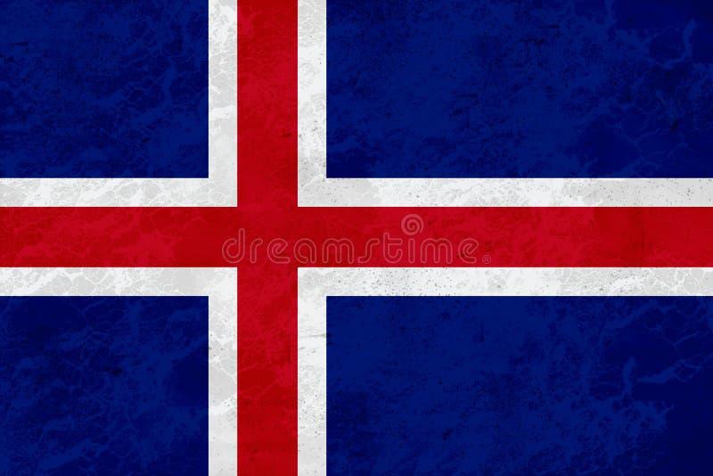 Island flagga - marmortextur arkivbild