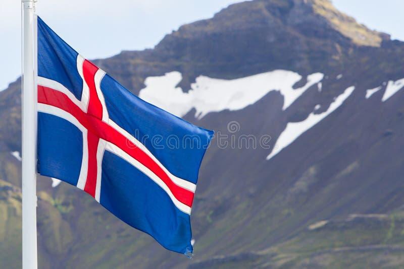 Island-Flagge - Flagge von Island lizenzfreie stockfotografie