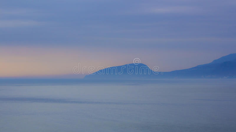 Download Island in the fog stock image. Image of lagoon, aerial - 28027019