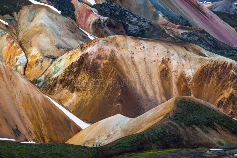 Island-Gebirgswanderer stockfotografie