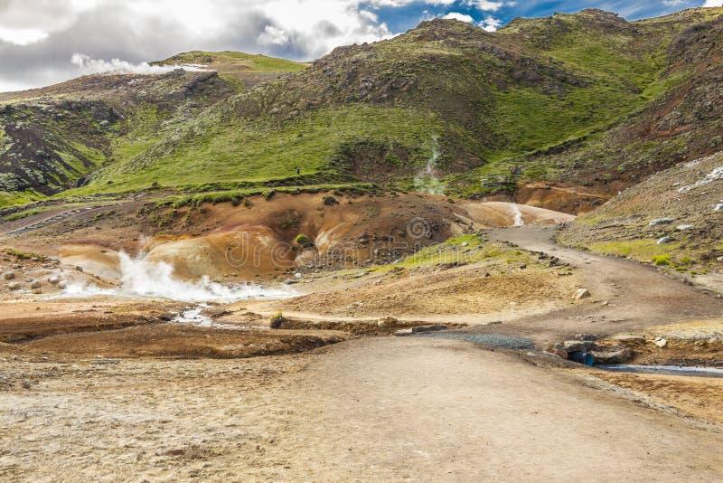 Island - geothermischer Bereich nahe Grindavik. stockfotografie