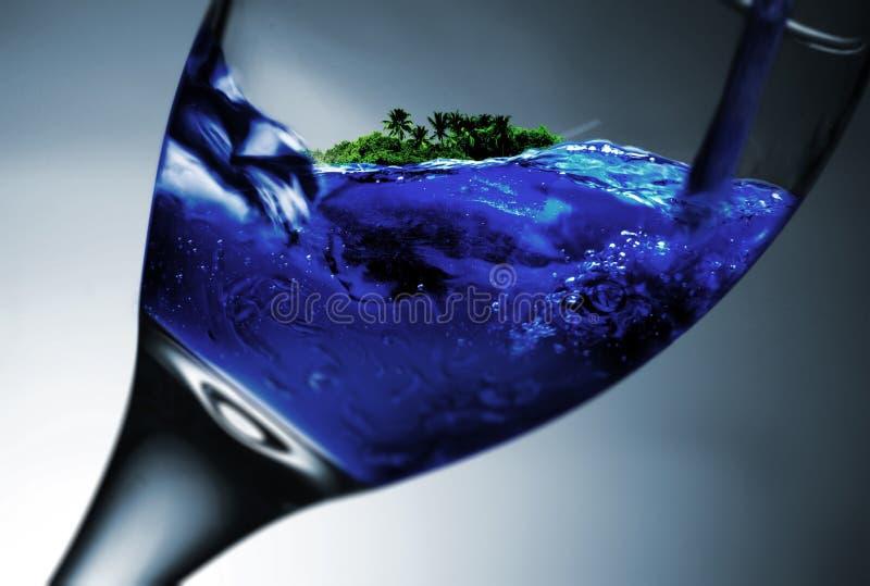 Island in Glass stock photos