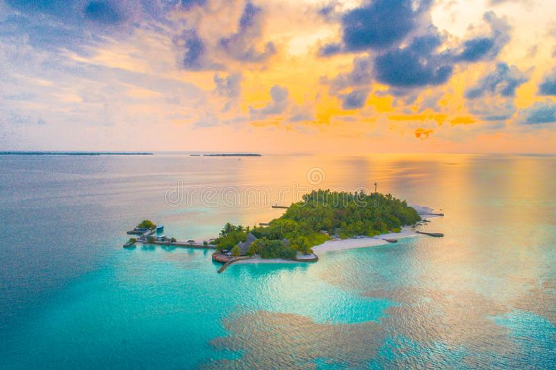 Island during Golden Hour stock photography