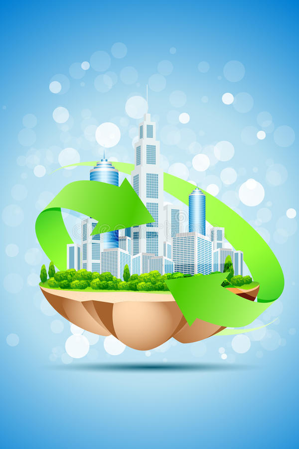 The Island Of Green Business Royalty Free Stock Image