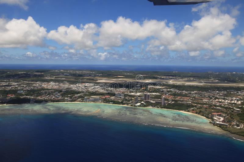 Island guam, view from sky stock image