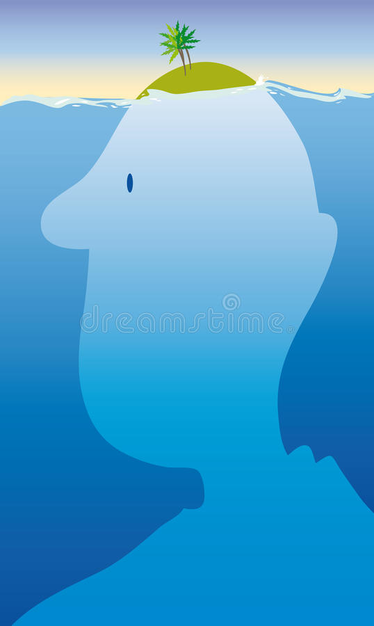 Island head royalty free illustration